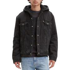 Levis мужские джинсовые шерпа на подкладке с капюшоном джинсовая куртка осень карман шнурок 85244