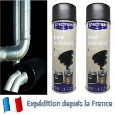 Peinture haute température 800° aérosol Noir Mat 2 X Bombe de peinture HT 800°