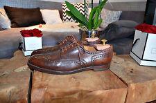 Ed.Meier Schuhe aus Leder NP 790€ Gr. 12 1/2 AA  - dunkelbraun