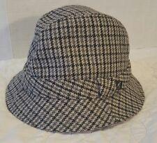 Kangol Heritage Tweed New Market Trilby Sz. L Black/Gray Fedora Crusher Hat