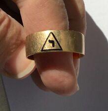 10K Yellow Gold 14th Degree Scottish Rite Masonic Ring, Size 12, 5.07 Grams