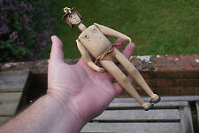 Vintage Hand Made Wooden Doll Tribal Doll