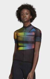 Adidas Cycling Adistar Pride Jersey Black/Glory Blue Women's Medium NWT $160