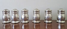 vintage 6 ( 3 sets ) STERLING silver SALT & PEPPER SHAKERS Mini