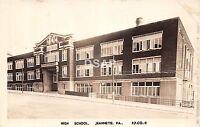 Pennsylvania Pa Real Photo RPPC Postcard c30s JEANNETTE High School Building