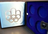 1976 CANADA MONTREAL XXI OLYMPICS Empty Case (Type 2) for 4 Silver Coins RARE