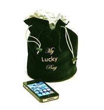 8x6 inch Green Velvet/ Satin (Dice, Rune/Tarot, Gadgets, Jewelry) Drawstring Bag
