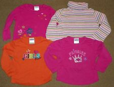 4 Baby Girls Long Sleeve TOPS Shirts Size 2T OKIE DOKIE Girls Rule GAP