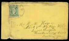 1860's Confederate cover Virginia to Dalton GA, franked w/10¢ GREEN (#12e)