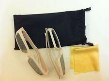 2 Pair New Vizio kids XPG402 Theater 3D Glasses Kids Size+Free Pouch+Clean Cloth