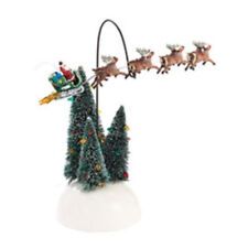 DEPT 56 SNOW VILLAGE 2013   ANIMATED FLAMING SLEIGH