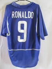 Brasil 2002-2004 Away Ronaldo 9 Fútbol camisa tamaño Grande / 34158