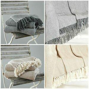 COUNTRY CLUB COMO Throw Blanket 100 % Cotton 127 x 152 cm
