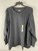 U PICK Women/'s TEK GEAR Fleece Crew Neck Thumb Hole Sweatshirt NWT