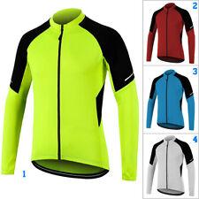 Cycling Jacket Mens Long Sleeve Biking Jersey Green Red Bicycle Coat MTB Bike