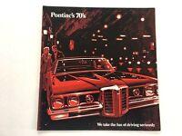 1970 Pontiac 24-page Sales Brochure Catalog - Bonneville Grand Prix LeMans GTO