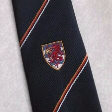 Red Dragon Shield Crest Corbata Azul Marino Retro Vintage por lebrett Neckwear 1970s 1980s