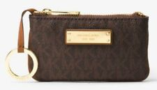 Michael Kors Key Pouch Card Holder Jet Set Travel Small Logo Brown