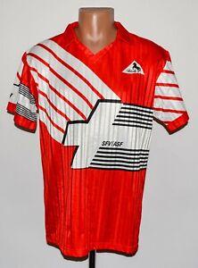 SWITZERLAND 1990/1992 HOME FOOTBALL SHIRT JERSEY BLACKY SIZE M/L ADULT
