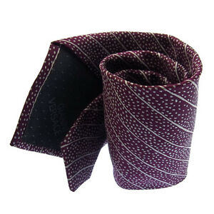Versace Neck Tie Purple Mens Authentic Used D781