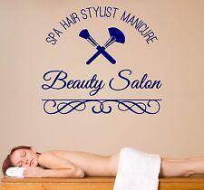Wall Vinyl Decal Spa Hair Manicure Beauty Salon Decor  z4576