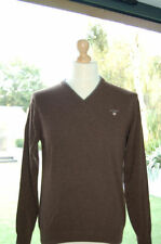 Gant Men's Medium Knit V Neck Lambswool Jumpers & Cardigans
