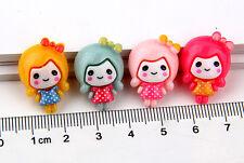 16pcs Resin Mix 4 color Girls Scrapbook Craft Flatback Decoration Diy C1