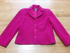 Louben Fuchsia Size 8 Jacket/Coat Wool Cashmere Blend Front Button