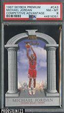 1997-98 Skybox Premium Competitive Advantage Die-Cut Michael Jordan PSA 8