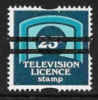 GB 25p TV Television Licence Stamp School Training Bars MNH