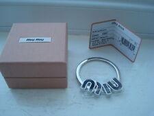 Gorgeous Authentic PRADA / Miu Miu Silver Keyring / Bag Charm BNIB