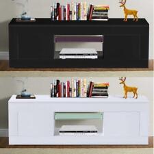 TV Stand Cabinet Unit 2 Door Modern High Gloss Entertainment 125cm
