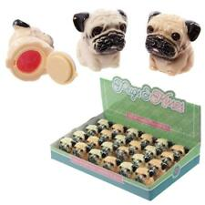 Pugs and Kisses Peach and Peppermint Flavoured Pug Lip Balm Set of Two Brand New