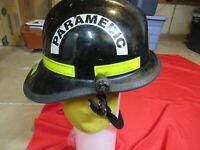 MFG 1999 Cairns Fire Helmet 660C RESCUE SAFETY  NECKGUARD Black Firefighter