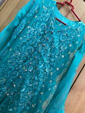 Turqoise Asian Dress Size Medium