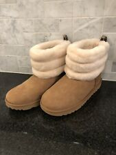 Kid's Ugg Fluff Mini Quilted Chestnut Boots- size 6- #1103612