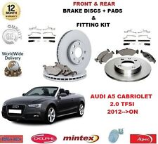 FOR AUDI A5 CAB 2.0 TFSI 2012 >ON FRONT + REAR BRAKE DISCS & PADS + FITTING KIT