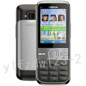 Original Unlocked Nokia C5-00 Hebrew Keyboard Etc. Grey 3G 5MP Moblie Bar Phone