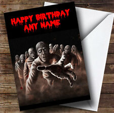 Scary Horrible Zombies Horror Personalised Birthday Greetings Card