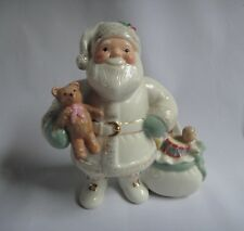 Lenox Hand-Painted China & Gold Santa Figurine Xmas Decor w/ Slight Flaw