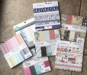 Various 6x6 Paper Pad You choose Simple Stories Teresa Collins Heidi Swapp NEW