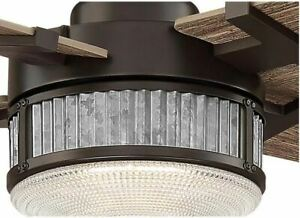 """Aire a Minka Group Rustic 54"""" Integrated LED Indoor Oil Rub Bronze Ceiling Fan"""
