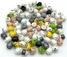 LEGO NEW MINIFIGURE COLORED HEADS ALIEN MONSTER GHOST VAMPIRE PARTS