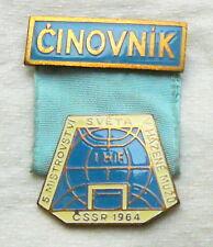 1964 IHF HANDBALL World Championships PARTICIPANT Functionary PIN Badge RARE