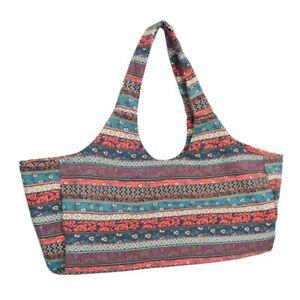 Large Print Yoga Mat Bag Fitness Tote Sling Carrier Side Pocket Gym Shoulder Bag