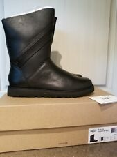New UGG Australia Women's Alba Winter Leather Boot Black size 8