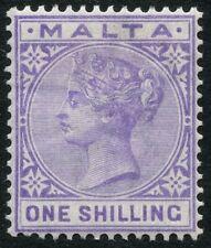 Malta SG 28 1s Violet Mounted Mint Cat £50.00