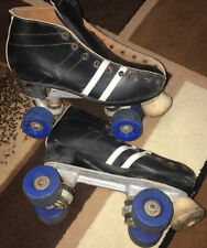 Vintage Dominion Roller Skates Size 5 Chicago Plates Look Like Riedell Boots