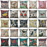 "18"" Vintage Bird Pattern Cotton Linen Cushion Cover Pillow Case Home Decor"