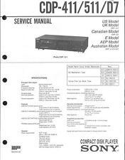 Sony Original Service Manual für CDP-411/511/D7